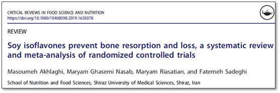 Soy isoflavones help bone health